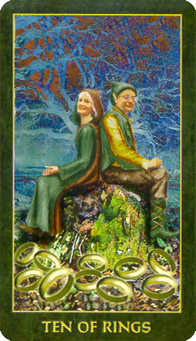 Ten of Coins Tarot Card - Forest Folklore Tarot Deck