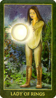 Lady of Rings Tarot Card - Forest Folklore Tarot Deck
