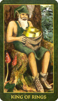 King of Diamonds Tarot Card - Forest Folklore Tarot Deck