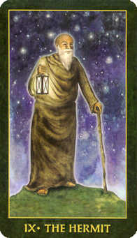 The Anchoret Tarot Card - Forest Folklore Tarot Deck