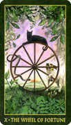 Wheel of Fortune Tarot card in Forest Folklore deck