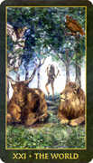 The World Tarot card in Forest Folklore deck