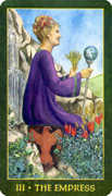 The Empress Tarot card in Forest Folklore deck