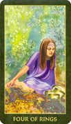Four of Rings Tarot card in Forest Folklore deck