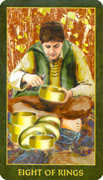 Eight of Rings Tarot card in Forest Folklore deck