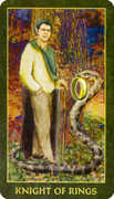 Knight of Rings Tarot card in Forest Folklore deck