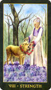Strength Tarot card in Forest Folklore deck