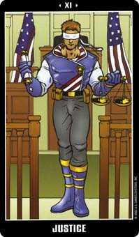 Justice Tarot Card - Fradella Tarot Deck