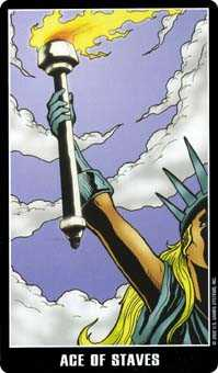 Ace of Staves Tarot Card - Fradella Tarot Deck