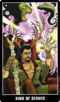 King of Rods Tarot Card - Fradella Tarot Deck