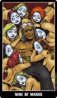 Nine of Ghosts Tarot Card - Fradella Tarot Deck