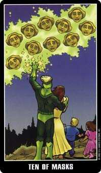 Ten of Hearts Tarot Card - Fradella Tarot Deck