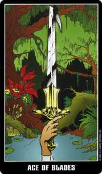 Ace of Swords Tarot Card - Fradella Tarot Deck