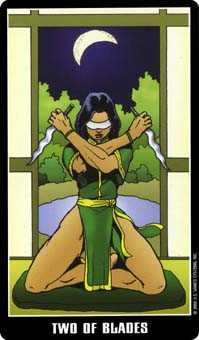 Two of Swords Tarot Card - Fradella Tarot Deck