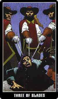 Three of Swords Tarot Card - Fradella Tarot Deck