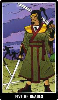 Five of Spades Tarot Card - Fradella Tarot Deck
