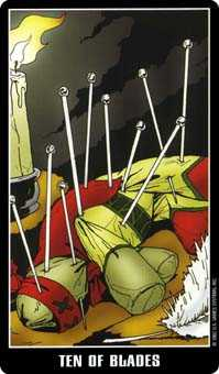Ten of Arrows Tarot Card - Fradella Tarot Deck