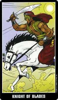 Cavalier of Swords Tarot Card - Fradella Tarot Deck