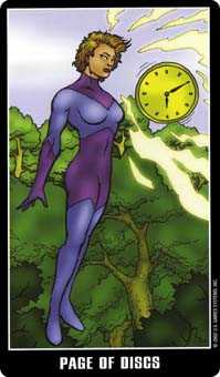 Daughter of Discs Tarot Card - Fradella Tarot Deck