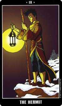 The Hermit Tarot Card - Fradella Tarot Deck