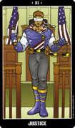 Justice Tarot card in Fradella Tarot deck