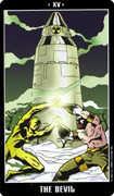 The Devil Tarot card in Fradella Tarot deck