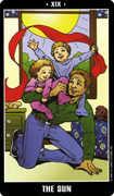 The Sun Tarot card in Fradella Tarot deck