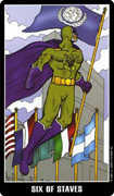 Six of Wands Tarot card in Fradella Tarot deck