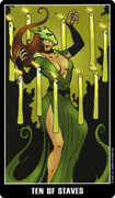 Ten of Wands Tarot card in Fradella Tarot deck