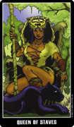 Queen of Wands Tarot card in Fradella Tarot deck