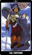 The Emperor Tarot card in Fradella deck