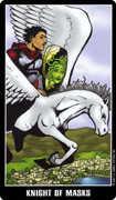 Knight of Cups Tarot card in Fradella Tarot deck