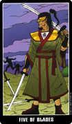 Five of Swords Tarot card in Fradella Tarot deck
