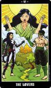 The Lovers Tarot card in Fradella Tarot deck