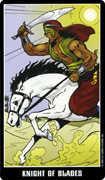 Knight of Swords Tarot card in Fradella Tarot deck
