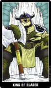 King of Swords Tarot card in Fradella Tarot deck