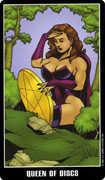 Queen of Coins Tarot card in Fradella Tarot deck