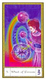 The Wheel of Fortune Tarot Card - Gendron Tarot Deck