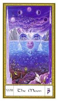 The Moon Tarot Card - Gendron Tarot Deck
