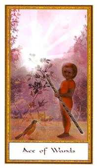 Ace of Rods Tarot Card - Gendron Tarot Deck