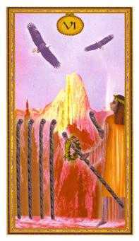 Six of Batons Tarot Card - Gendron Tarot Deck