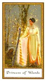 Princess of Staves Tarot Card - Gendron Tarot Deck