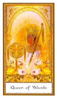 Queen of Staves Tarot Card - Gendron Tarot Deck