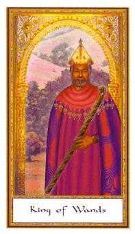 King of Batons Tarot Card - Gendron Tarot Deck