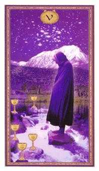 Five of Cups Tarot Card - Gendron Tarot Deck