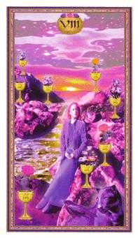Eight of Bowls Tarot Card - Gendron Tarot Deck
