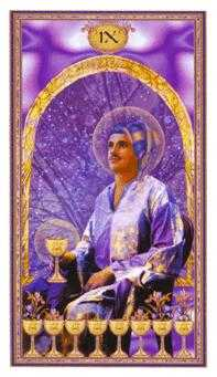 Nine of Bowls Tarot Card - Gendron Tarot Deck