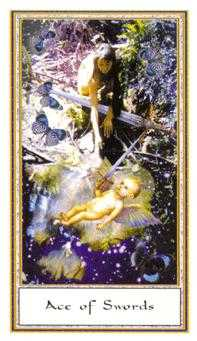 Ace of Wind Tarot Card - Gendron Tarot Deck