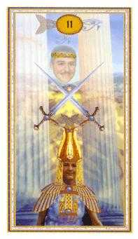 Two of Swords Tarot Card - Gendron Tarot Deck