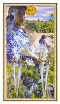 Four of Arrows Tarot Card - Gendron Tarot Deck